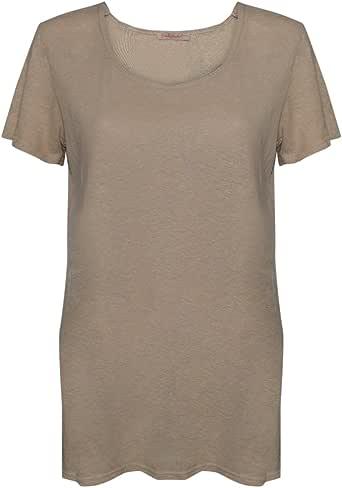 Fresh Produce 女士 Ava 上衣短袖 T 恤纯棉服装上衣 水洗卡其色 Small