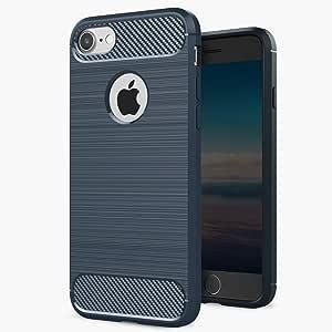 iPhone 7 手机壳,Pasonomi【全身】【重型】坚固混合双层装甲防震保护套适用于 iPhone 7 (2016) DG-H-A-335-iPhone 7 LS-Dark Blue Z-Dark Blue