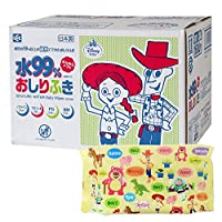 玩具總動員 99% 純水濕巾 80張×20個 (1600張) 日本制 不含防腐劑