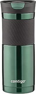 Contigo 康迪克SnapSeal 真空保溫不銹鋼旅行水杯,20 盎司(約600毫升),淺綠色