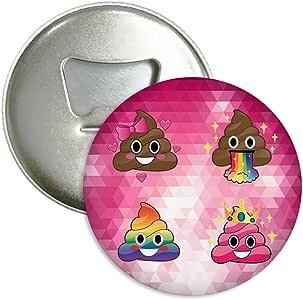 Candy House 冰箱磁铁 啤*瓶开瓶器 *瓶 葡萄*开瓶器 口袋尺寸 Emoji Rainbow Poop 58Mm PIHS-1GJ-H8N