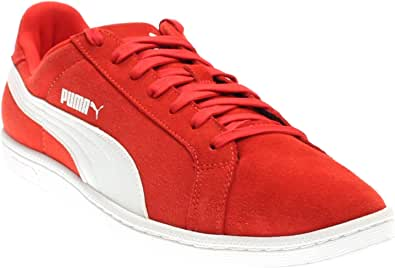 PUMA 男士 Puma Smash Leather-M fashion sneakers sneakers 红色 11.5 D(M) US