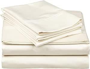 4PC 床上用品套装–1800支防*抗皱 BED linens 拉丝豪华超细纤维   包括2pillows 1fitted 1显示器床单 ( 埃及长绒棉品质系列 )