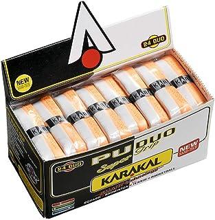 KARAKAL 缓冲 全球拍运动 PU SUPER GRIP DUO 白色/橙色 24个1套 KJ 601WO 白/橙色