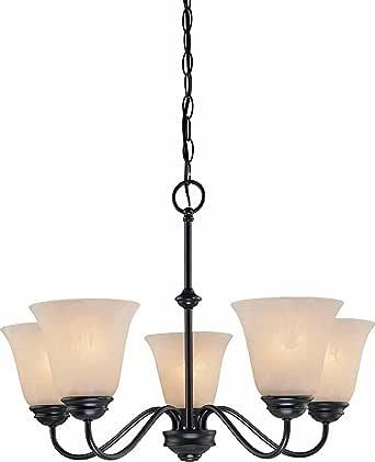 Volume Lighting V2265-79 Chandelier, Antique Bronze Finish 需配变压器