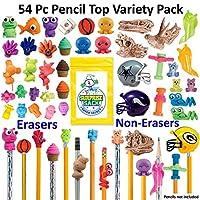 50+ PC 神奇铅笔垫组合套装 (30橡皮擦铅笔头和25FUN fidget 铅笔头) 带1超级秘密惊喜 SACK (TM)