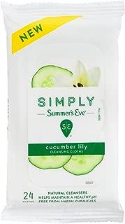 Summers Eve 简易擦拭湿巾 24 片(软包装)(2 片装)