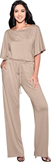 KOH KOH 女士短袖长裤套装连身衣连体裤