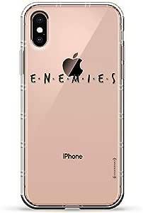 "ALBANIAN FLAG 奢华空气系列透明硅胶手机壳带 3D 印花设计和气袋垫缓冲垫适用于 iPhone Xs Max(新款 2018/2019 型号,带 6.5 英寸屏幕)LUX-IXPLAIR-ENEMIES1  ""Enemies"" Title Card 透明"