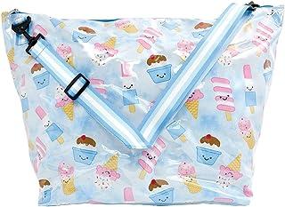 iscream 女童趣味印花周末旅行手提包带可调节肩带和内部拉链口袋