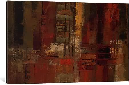 "iCanvasART 1 件日落街头露脐油画印刷品 Silvia Vassileva 40"" x 26"" WAC1459-1PC3-40x26"