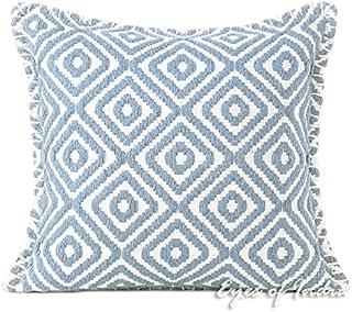 印度* - 40.64cm 灰色刺绣枕套长款枕巾腰枕无色垫装饰抱枕套 波西米亚波西米亚风座椅印度套