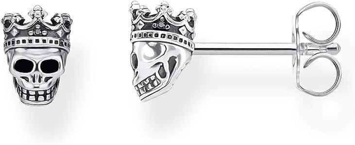THOMAS SABO 中性款耳钉 925 纯银,黑色 H2111-643-11