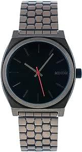 NIXON 男式石英不锈钢休闲手表,颜色:银色(型号:A045-872)
