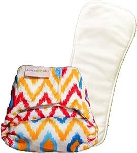 superbottoms 新生儿布尿裤,带 2 种干燥触感(保持干燥)肥皂(枕芯)(Ikat Chevron)