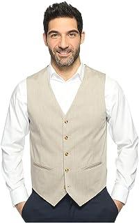 Perry Ellis 男士花色斜纹弹力西装背心 淡色(Natural Linen) Extra Extra Large