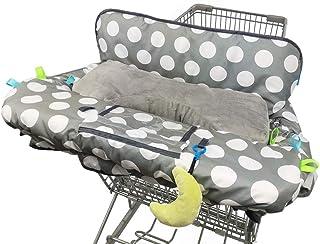 婴儿购物车套,带枕头 灰色圆点