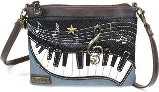 Chala 小型斜挎手机钱包,带 2 个可调节肩带 Navy Blue Piano Small