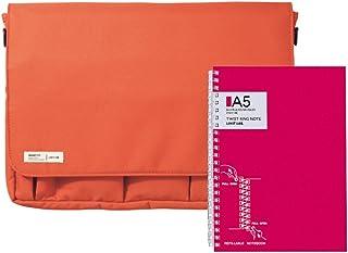 Lihit Lab A7577N-11 小包 A4 附带笔记本 橙色