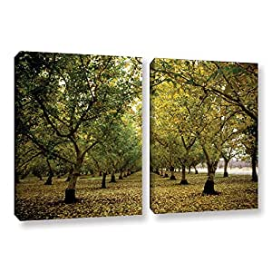 ArtWall Kathy Yates 'Fall Orchard' 2 Piece Gallery-Wrapped Canvas Artwork, 18 by 28""
