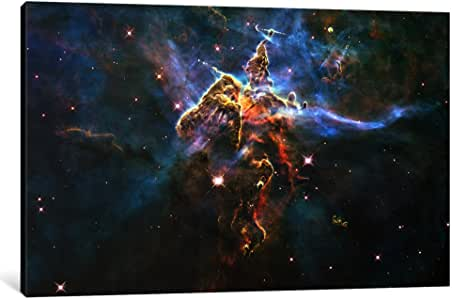 iCanvasART 11030-1PC3-18x12 Mystic Mountain in Carina Nebula 'Hubble Space Telescope' Canvas Print by NASA, 0.75 x 18 x 12-Inch