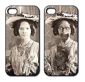 Dimension 9 3D 透光 iPhone 5/5s 手机套D9LNT15S-CPC100 1800s Zombie Woman with Hat, Black and White