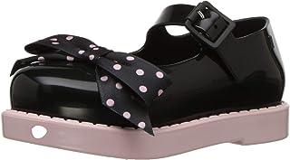 Mini Melissa Mini Maggie Bow Mary Jane 儿童平底鞋 Pnk 黑色 12 M US 儿童