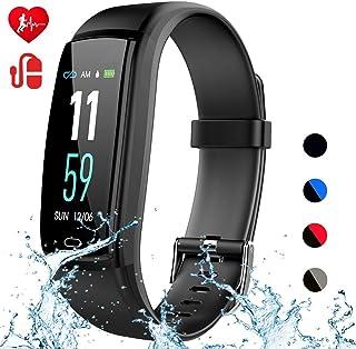 Mgaolo 健身追踪器,活动*追踪器,防水智能手表腕带,*心率*监测计步器卡路里计数器,适用于 Android 和 iPhone