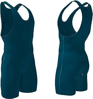 4 Time All American 摔跤汗衫,男式和青年,力量提升和运动装备,MMA 摔跤装备/服装,黑色,*蓝,红色,蓝*(尺码:4XS-5XL). 蓝* XXXS/YM 41-50 lbs.