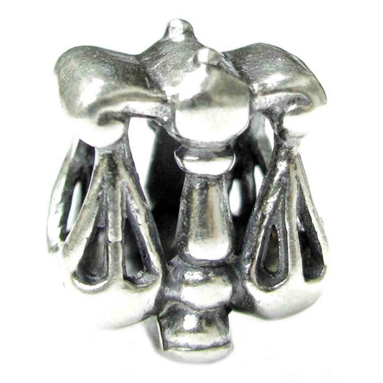 纯银十二星座天秤座欧式珠饰饰品