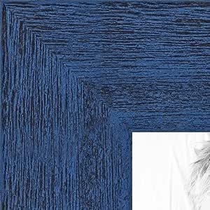 """画框灰色乡村风格木纹。 3.81 cm 宽 1.5 英寸蓝色 7 x 8"""" 2WOM0066-83235-YBLU-7x8"""
