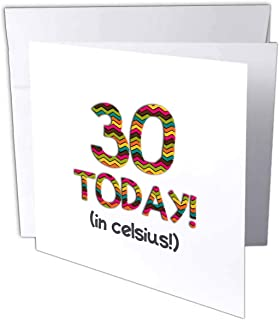 InspirationzStore Occasions - 30 Today.in celsius - 有趣的 86 岁生日日。 30C 为 86 华氏度 - 贺卡 Individual Greeting Card