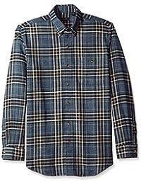 ARROW 男式長袖格子法蘭絨襯衫