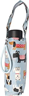 Totes 微型迷你手动紧凑雨伞,NeverWet 技术,浅蓝色与多色狗,小狗,38 英寸弧覆盖范围
