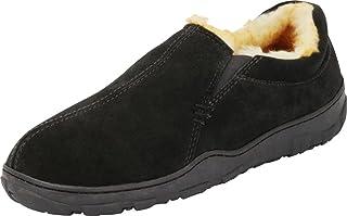 Tamarac by Slippers International 男士 Conway 真皮麂皮衬里拖鞋