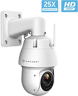 Amcrest WiFi 戶外 PTZ IP 攝像機,無線平移傾斜變焦(25 倍光學)*攝像頭,雙頻 2.4ghz/5ghz,Starvis 低光,328ft 夜視,IP66 防水,1080P 2 萬像素,IP2M-858W