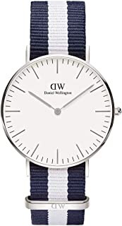 Daniel Wellington 丹尼尔•惠灵顿 瑞典品牌 Classic系列 银色表圈表扣 石英手表 女士腕表 DW00100047(原型号0602DW)