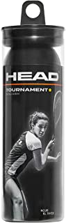 HEAD 中性款 tournament 3管 SYD 壁球球(3件装),黑色,均码