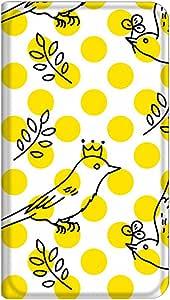 智能手机壳 手册式 对应全部机型 薄型印刷手册 cw-281top 套 手册 圆点 鸟 超薄 轻量 UV印刷 壳WN-PR132399-ML Disney Mobile on SoftBank DM016SH B款