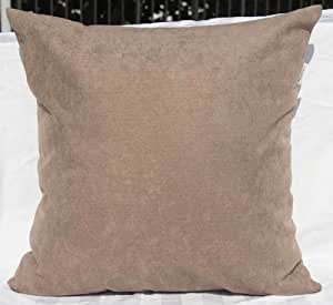 "TangDepot 纯色羊毛抱枕套/欧式枕套/靠垫枕套,超豪华柔软枕套 - 手工制作 - 多种颜色及尺寸可选 Baby Brown 14"" x 14"" TPCover-WoolLike-14x14BabyBrown"