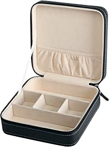 HOUSWEETY 眼镜太阳镜隔层男式黑色皮革展示玻璃顶部珠宝盒收纳袋 风格 9 HOUSWEETYB129569