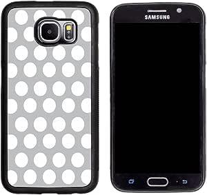 Rikki Knight 灰色波尔卡圆点设计三星 Galaxy S6 手机壳 - 黑色