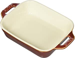 "Staub Ceramic 5.5"" x 4"" Rectangular Baking Dish Rustic Red 5.5"" x 4"""