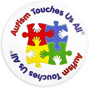 Autism Awareness 多色拼图别针 Puzzle Button Pin Retail Pins
