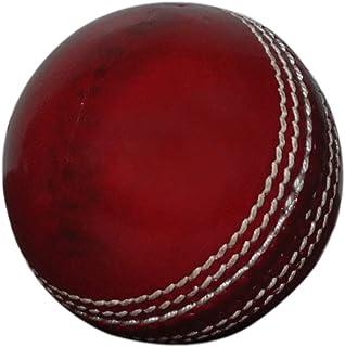 KSZ TRADERS 板球皮革球 50 超过板球 A 级手工缝制测试和一天匹配红色