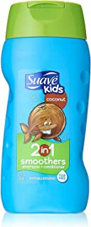 Suave Shampoo Kids Coconut Smoothers 2-in-1 Shampoo & Conditioner 12oz Bottles (Pack of 6)