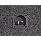 Scosche SE122CC 12-Inch Dual Subwoofer Enclosure (Grey/Black)