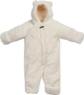 Jessica Simpson 女婴保暖蓬松人造毛皮服装,带角色兜帽(新生儿和婴儿)