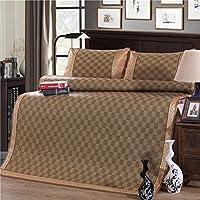 木茶 宫廷御藤席三件套 1.2米床凉席两件套 1.5/1.8米床夏天凉席套装 格调人生 2.0m床