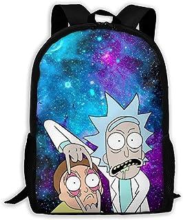 Rick-Morty 学生背包新奇有趣的书包休闲笔记本电脑包适合青少年男孩女孩